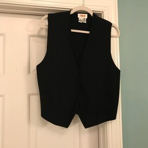 Talbots wool vest with velvet buttons size 8